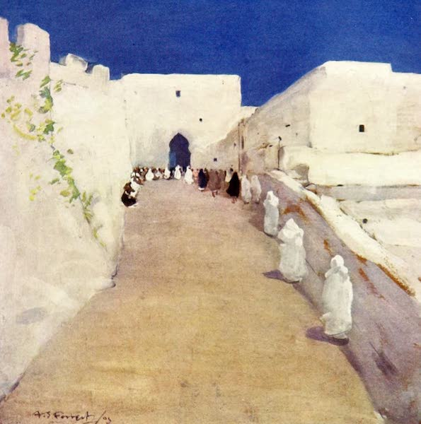 Morocco, Painted and Described - The Road to the Kasbah, Tangier (1904)