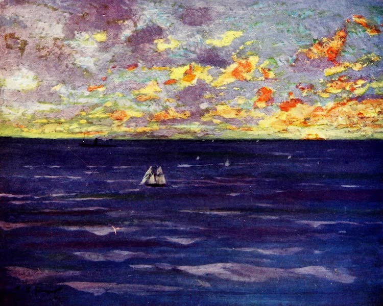 Morocco, Painted and Described - Sunset off the Coast (1904)