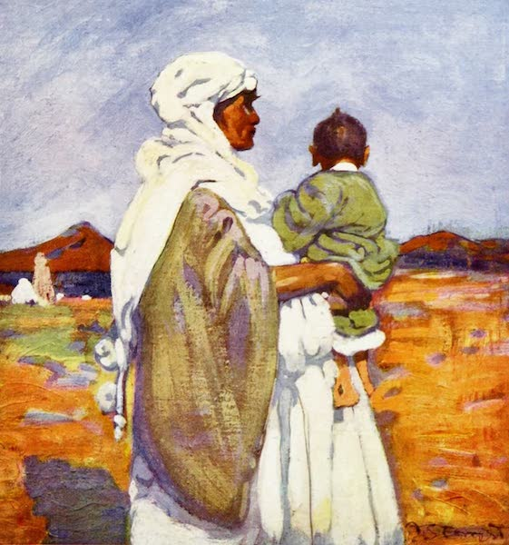 Morocco, Painted and Described - Moorish Woman and Child (1904)