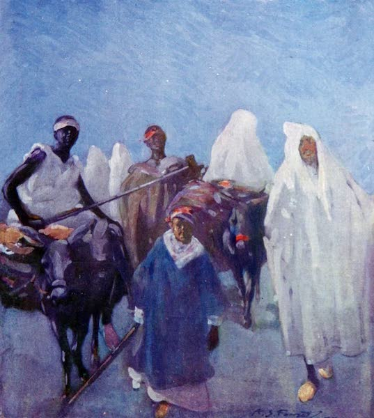 Morocco, Painted and Described - Travellers by Night (1904)