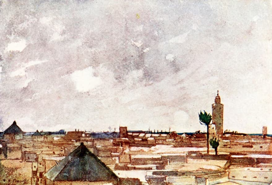 Morocco, Painted and Described - The Roofs of Marrakesh (1904)