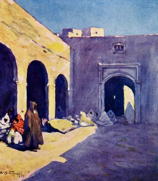 Morocco, Painted and Described - A Courtyard, Marrakesh (1904)