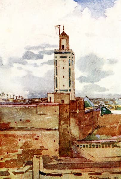 Morocco, Painted and Described - A Mosque, Marrakesh (1904)
