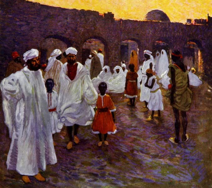 Morocco, Painted and Described - The Slave Market (1904)