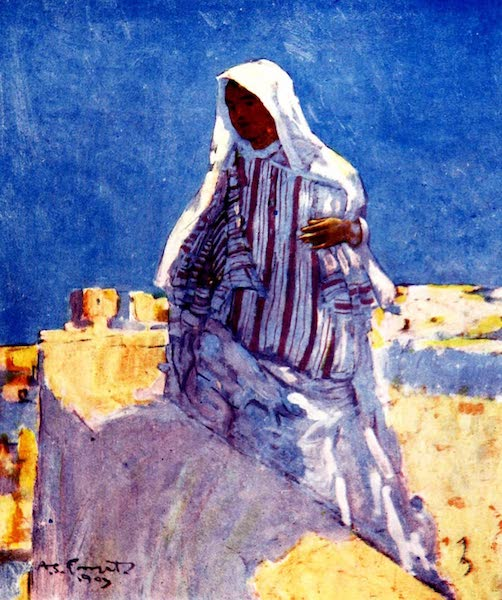 Morocco, Painted and Described - On the House-top, Marrakesh (1904)