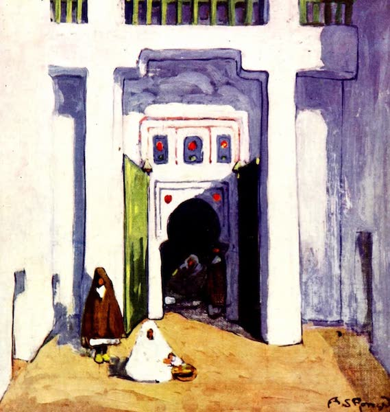Morocco, Painted and Described - A House Interior, Marrakesh (1904)