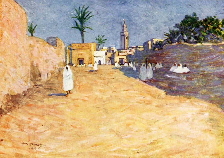 Morocco, Painted and Described - Street in Marrakesh (1904)
