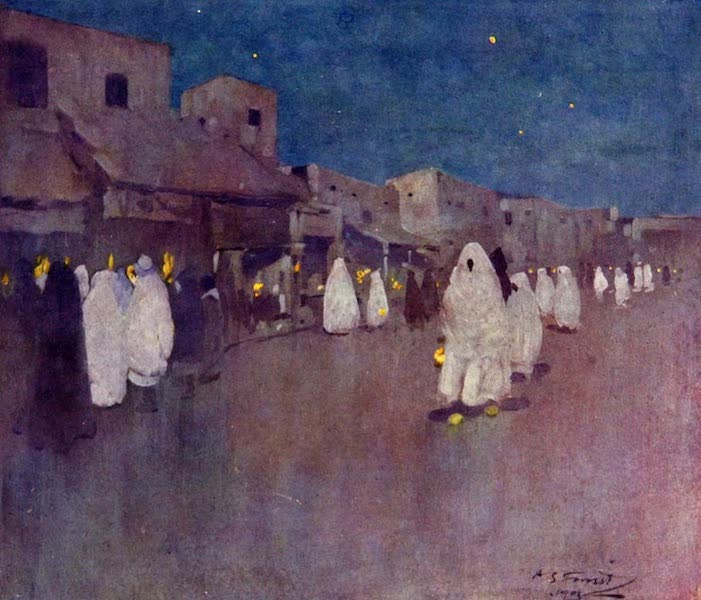 Morocco, Painted and Described - Night Scene, Mogador (1904)