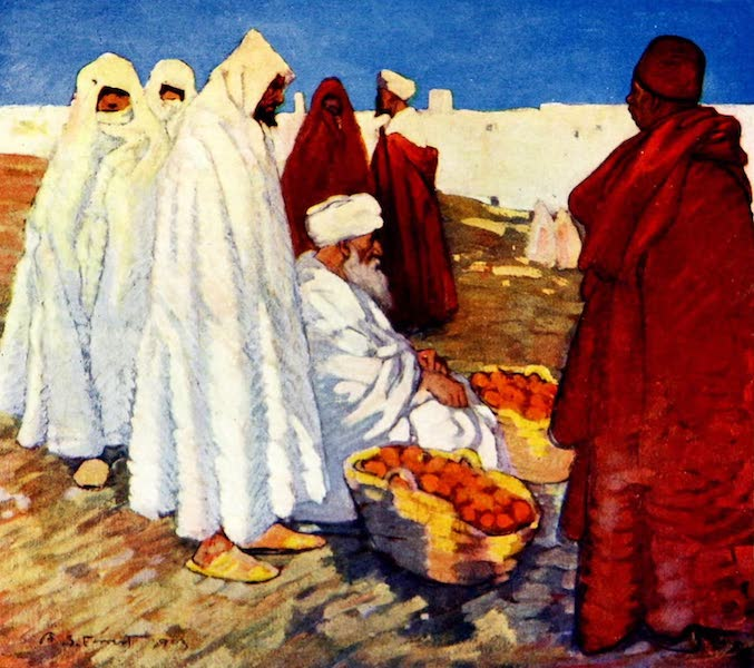 Morocco, Painted and Described - Selling Oranges (1904)