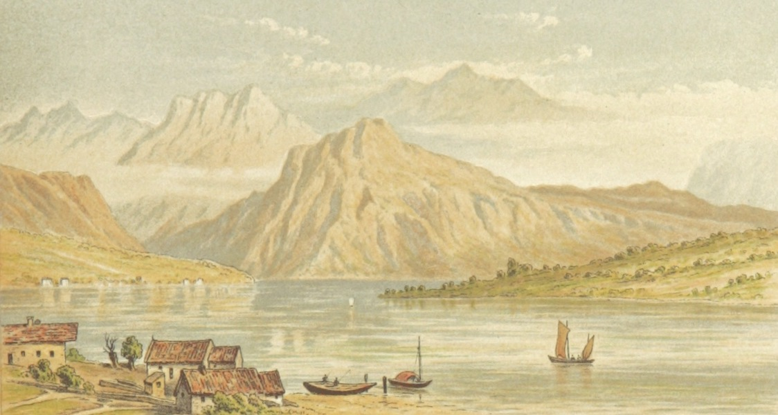 Mountains and Lakes of Switzerland and Italy - The Rigi from Lucerne (1871)