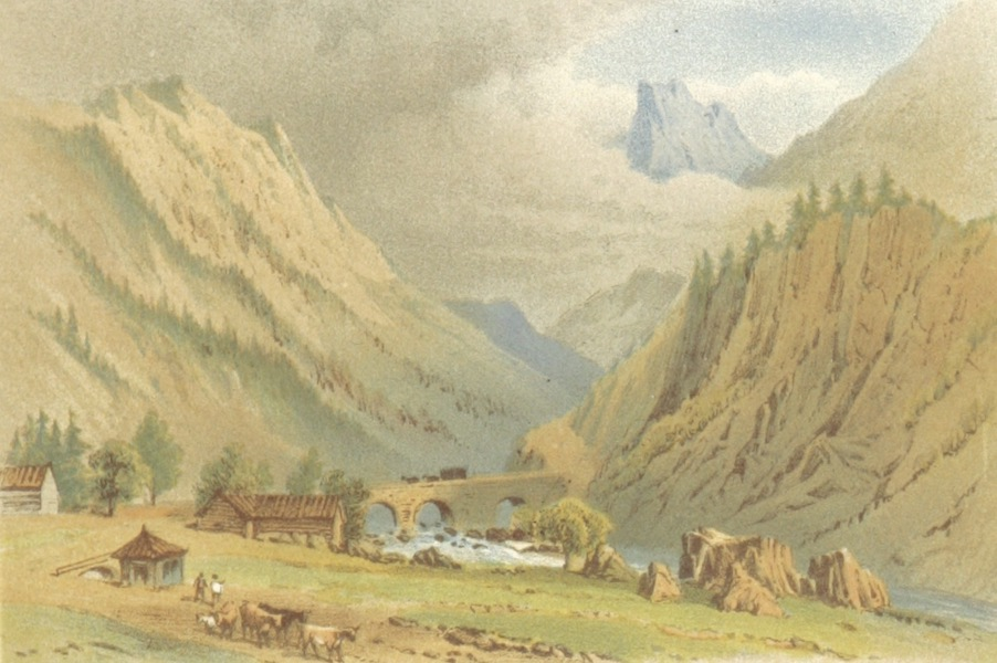 Mountains and Lakes of Switzerland and Italy - Andermatt (1871)