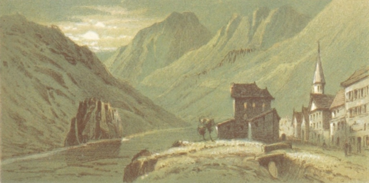 Mountains and Lakes of Switzerland and Italy - Airolo (1871)