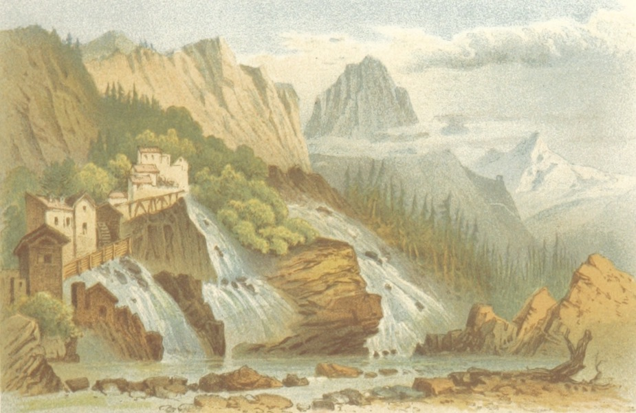 Mountains and Lakes of Switzerland and Italy - Mills at Faido (1871)
