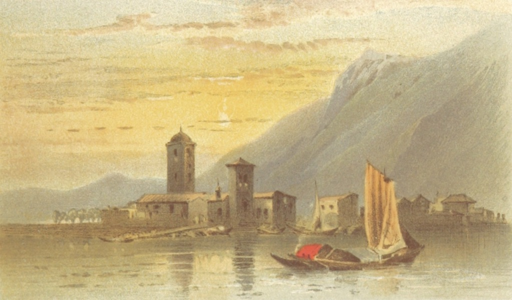 Mountains and Lakes of Switzerland and Italy - Canobbia (1871)