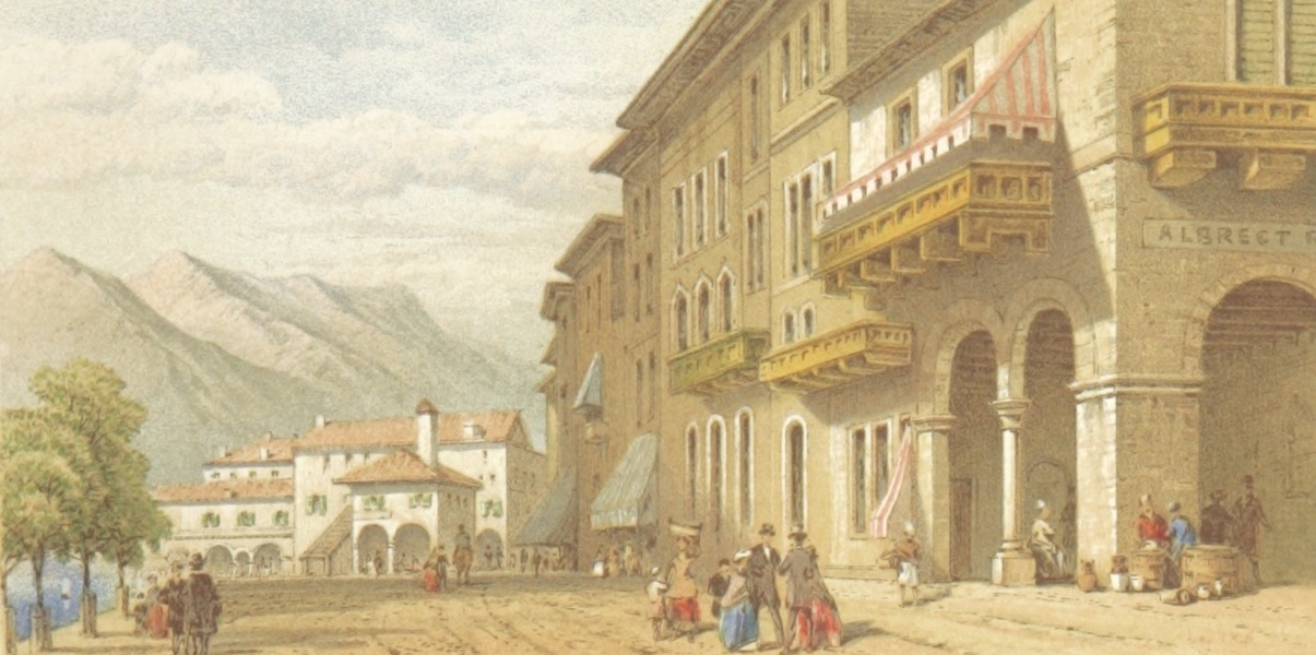 Mountains and Lakes of Switzerland and Italy - Orta (1871)