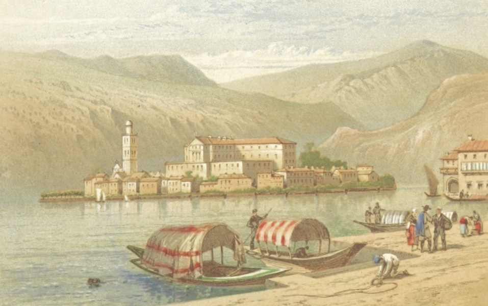 Mountains and Lakes of Switzerland and Italy - Island of San Giulin (1871)