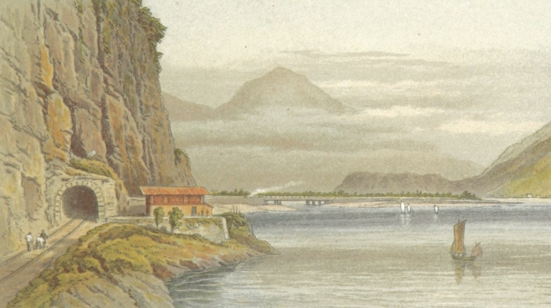 Mountains and Lakes of Switzerland and Italy - The Lake of Walldenstadt (1871)