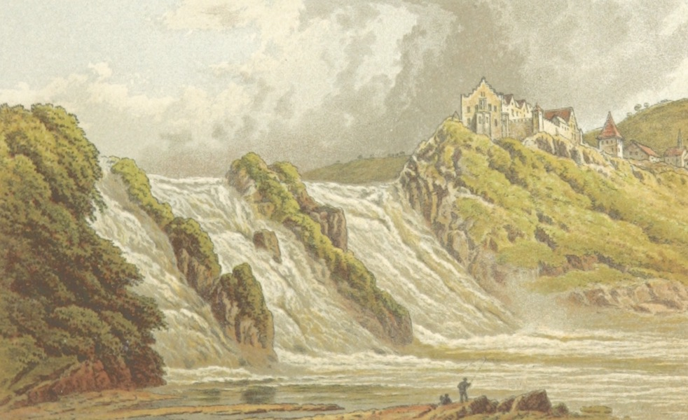 Mountains and Lakes of Switzerland and Italy - The Falls of the Rhine at Schaffhausen (1871)