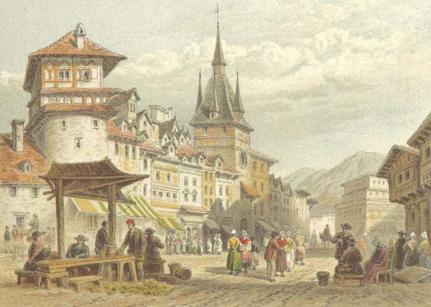 Mountains and Lakes of Switzerland and Italy - Street at Berne (1871)