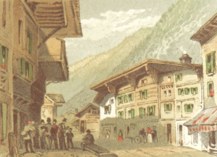 Mountains and Lakes of Switzerland and Italy - Post Office, Interlachen (1871)
