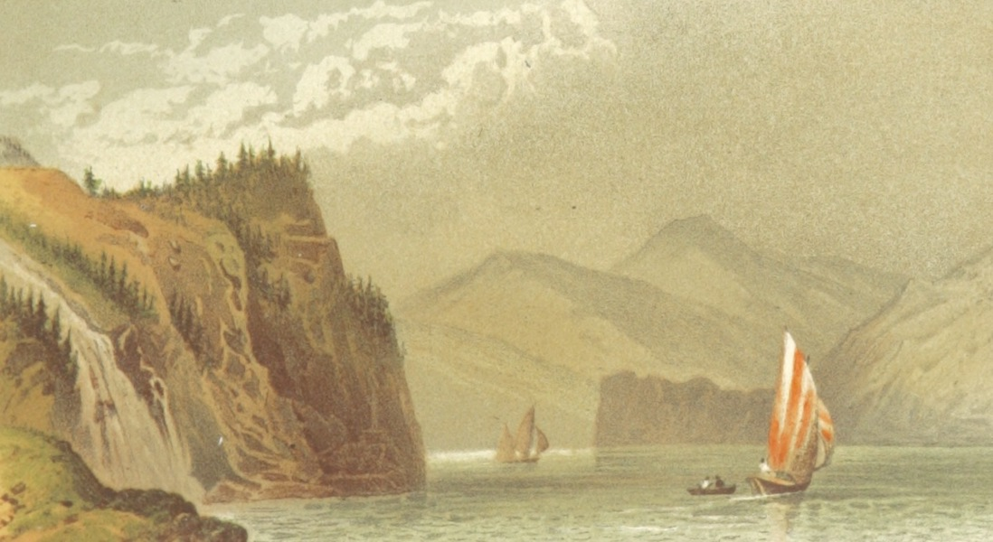 Mountains and Lakes of Switzerland and Italy - The Lake of Brienz Showing the Giessbach (1871)