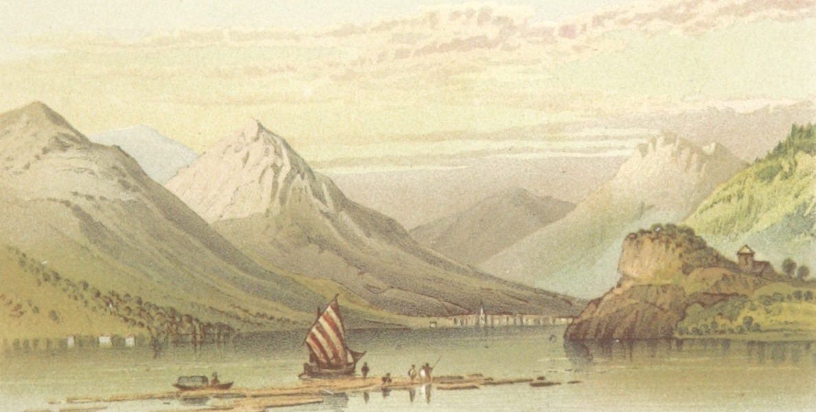 Mountains and Lakes of Switzerland and Italy - Interlachen from the Lake of Brienz (1871)