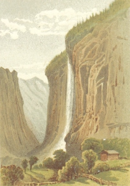 Mountains and Lakes of Switzerland and Italy - The Staubbach (1871)