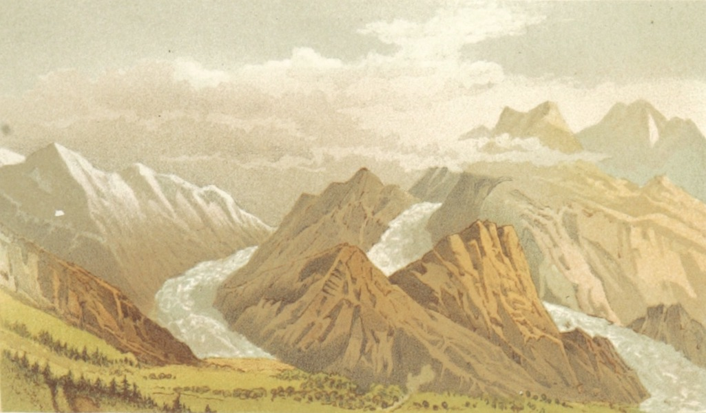 Mountains and Lakes of Switzerland and Italy - Grindelwald (1871)