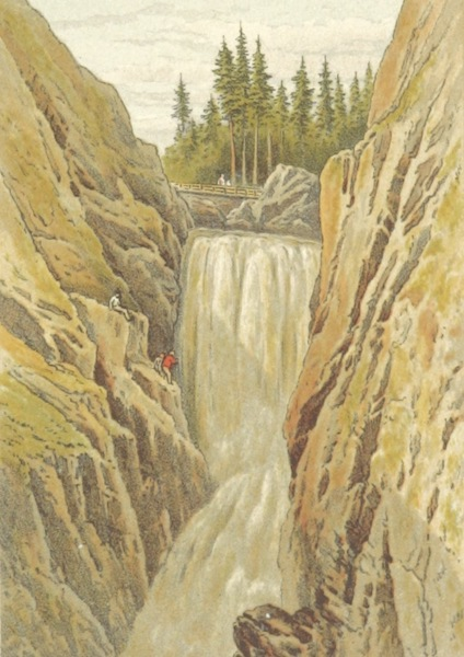 Mountains and Lakes of Switzerland and Italy - The Handek Falls (1871)