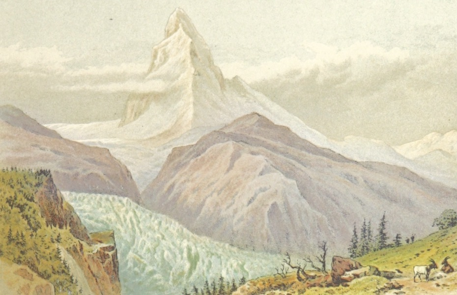 Mountains and Lakes of Switzerland and Italy - The Matterhorn (1871)