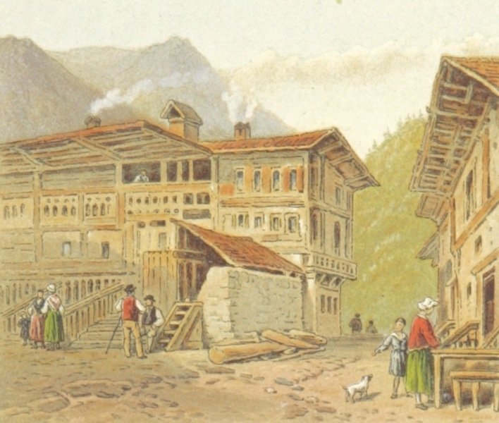 Mountains and Lakes of Switzerland and Italy - Stalden (1871)