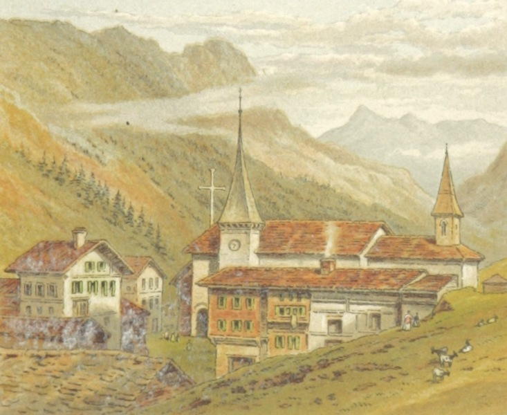 Mountains and Lakes of Switzerland and Italy - Valley of Saas (1871)
