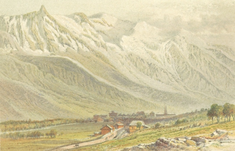 Mountains and Lakes of Switzerland and Italy - Mont Blanc from Chamouni (1871)