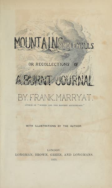 Mountains and Molehills - Title Page (1855)