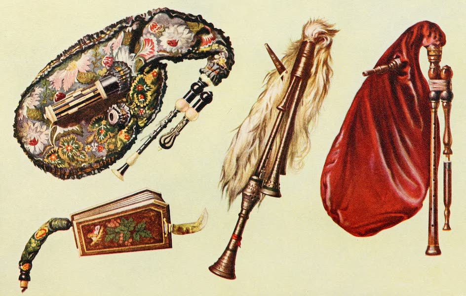 Musical Instruments - Cornemuse. Calabrian Bagpipe, Musette (1921)