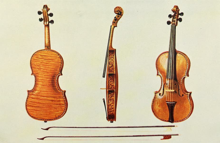 Musical Instruments - Violin - The Hellier Stradivarius, and Two Old Bows Noted for the Fluting (1921)