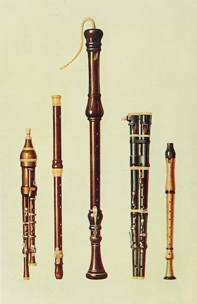 Musical Instruments - Two Double Flageolets, A German Flute, and Two Flutes Douces (1921)