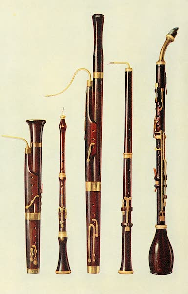 Musical Instruments - Dolciano. Oboe. Bassoon. Oboe Da Caccia, Basset Horn (1921)