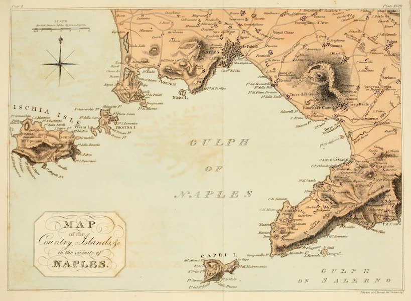 Naples and the Campagna Felice - Map of the Country, Islands, &c in the vicinity of Naples (1815)
