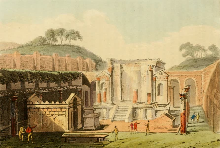 Naples and the Campagna Felice - View of the Temple of Isis in Pompeii. (1815)