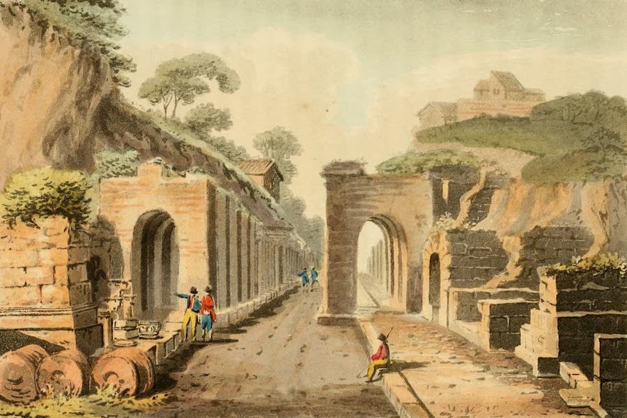Naples and the Campagna Felice - View of the Gate and High Street of Pompeii (1815)