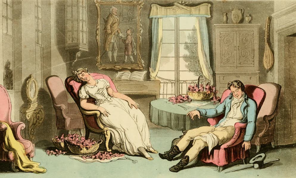 Naples and the Campagna Felice - Sleeping Tete a Tete, at a first visit of Don Luigi's (1815)