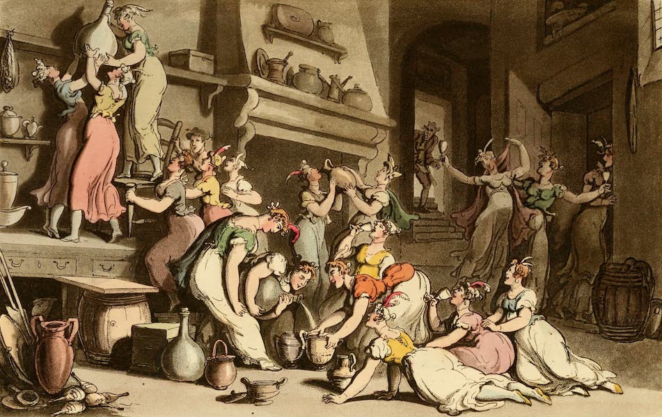 Naples and the Campagna Felice - A Bacchanalian Scene at Don Luigi's Ball (1815)