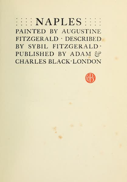 Naples, Painted and Described - Title Page (1904)