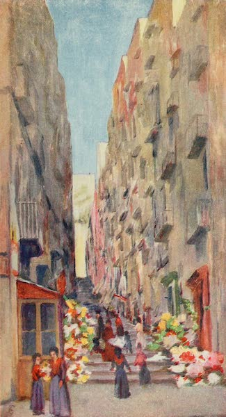 Naples, Painted and Described - The &34;Gridone,&34; leading up from the Via Chiaia (1904)