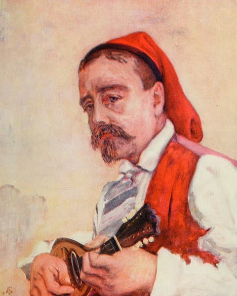 Naples, Painted and Described - A Singer in the Tarantella (1904)