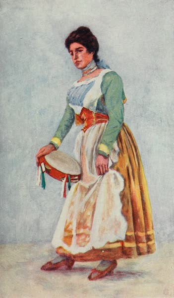 Naples, Painted and Described - Dancer of the Tarantella at Sorrento (1904)