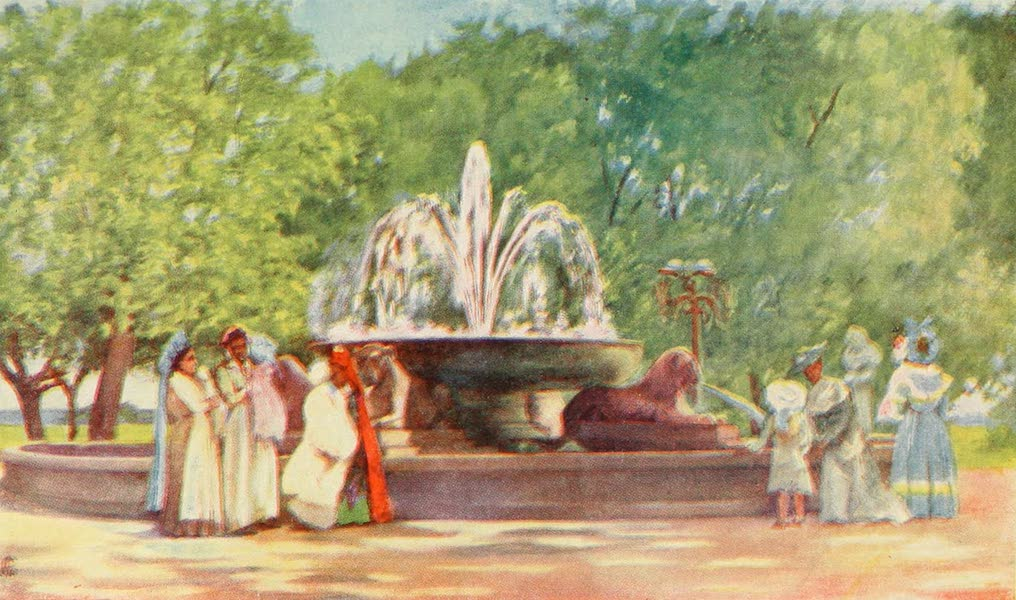 Naples, Painted and Described - The Fountain of Papparella in the Villa Nazionale of Naples (1904)