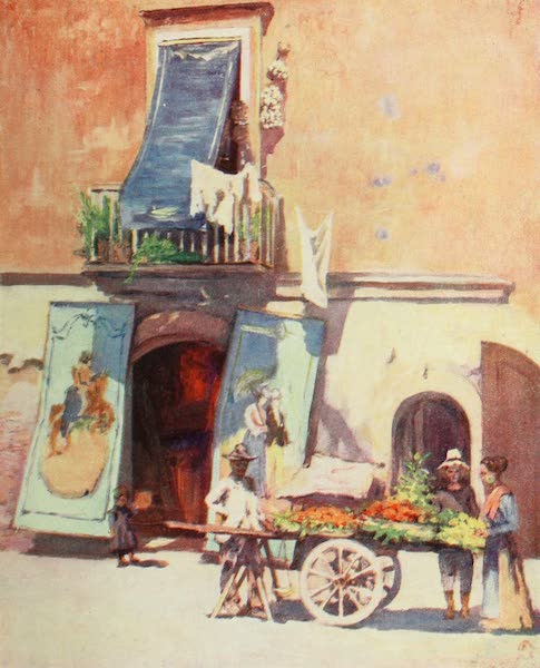 Naples, Painted and Described - Street Scene, the Marina, Naples (1904)