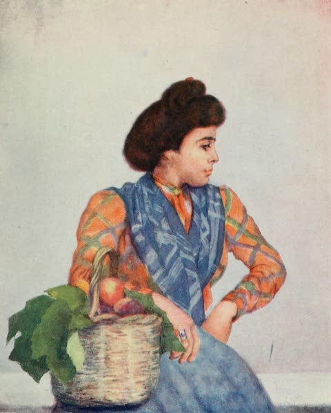 Naples, Painted and Described - A Fruit-Seller, Naples (1904)